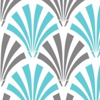 Design Studio Collection 2140502-1 Blue/Gray Deco Fans by Camelot