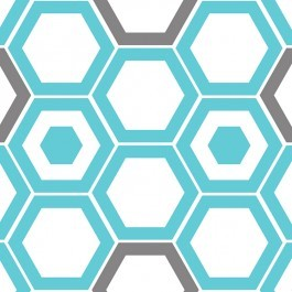 Design Studio Collection 2140503-3 Blue Hexagons by Camelot