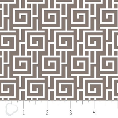 Cove 2141402-2 Grey Fretwork by Camelot Fabrics