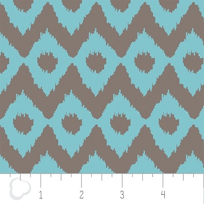 Cove 2141405-3 Tide & Grey Ikat by Camelot Fabrics