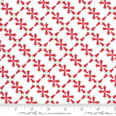 Merry & Bright 22401-23 White/Red Merry Forest by Moda