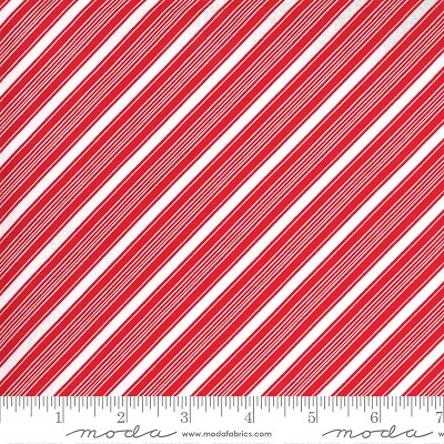 Merry & Bright 22407-11 Poinsettia Red Merry Stripe by Moda