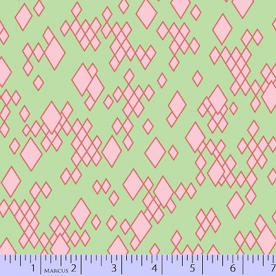 Mostly Manor 2285-0114 Mint Leo by Marcus Fabrics