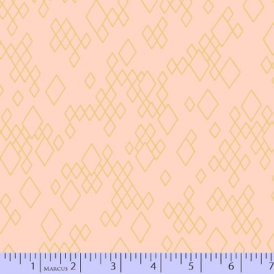 Mostly Manor 2285-0775 Blush/Gold Metallic Leo by Marcus Fabrics
