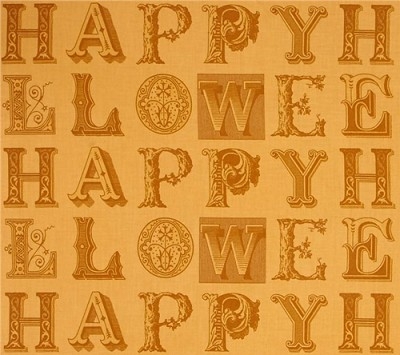 Sew Scary 23858-O Light Pumpkin Letter Blenders by Quilting Treasures