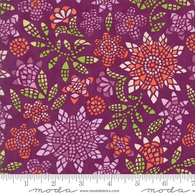 Grand Canal 27252-19 Fig Mosaic by Kate Spain for Moda
