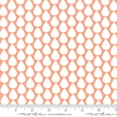 Sundrops 29013-26 Coral Raindrops by Corey Yoder for Moda