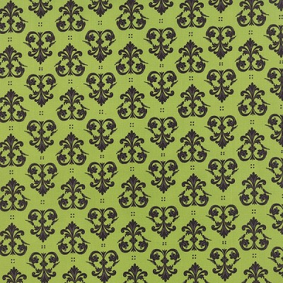 Spooky Delight 2904-15 Citron Midnight Ravens by Moda
