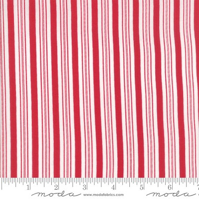 Sugar Plum Christmas 2916-11 Candy Red Candy Cane Stripe by Moda