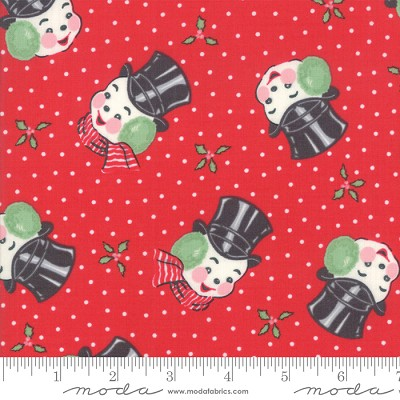 Sweet Christmas 31152-12 Peppermint Mr. Snowman by Urban Chiks for Moda
