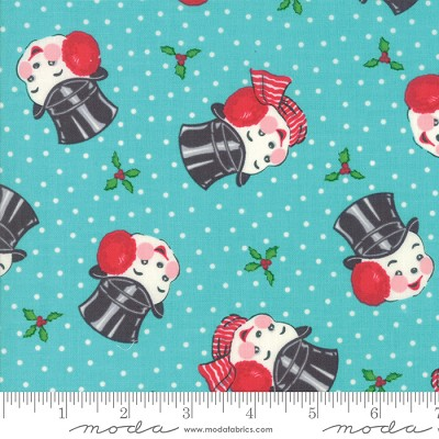 Sweet Christmas 31152-15 Coolmint Mr. Snowman by Urban Chiks for Moda
