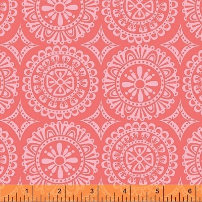 Garden Party Tango 38896-5 Coral Medallions by Windham