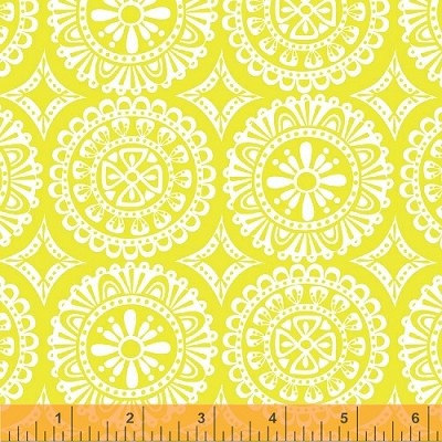Garden Party Tango 38896-6 Yellow Medallions by Windham