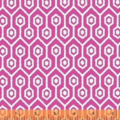 Garden Party Tango 38898-3 Magenta Geometric by Windham