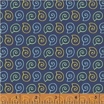 Ahoy Matey! 40155-2 Navy Shells by Whistler Studios for Windham