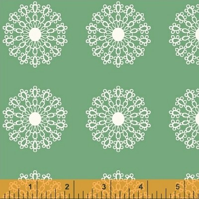 Modern Country 40721-3 Mint Lace Medallion by Windham