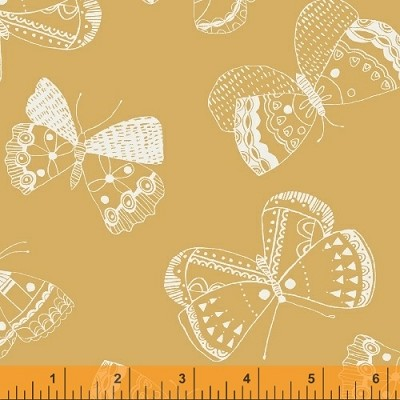 Whisper 41363-1 Butterscotch Mono Butterflies by Windham