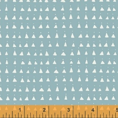 Whisper 41364-3 Soft Blue Triangles by Victoria Johnson for Windham