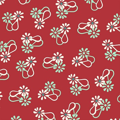 Hello Jane 42917-1 Red Loop Flower by Allison Harris for Windham