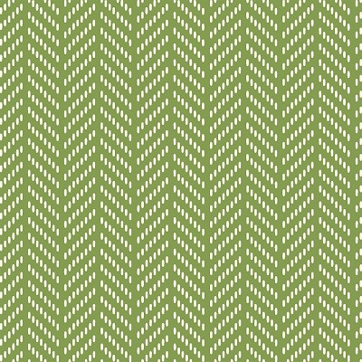Hello Jane 42921-7 Green Herringbone by Allison Harris for Windham