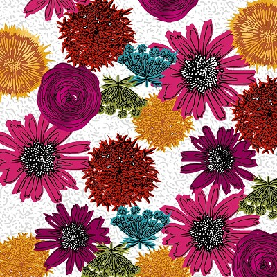 Maker's Home 43147-1 Magenta Multi Flower by Windham