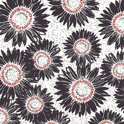 Maker's Home 43152-9 Charcoal Sunflower by Windham