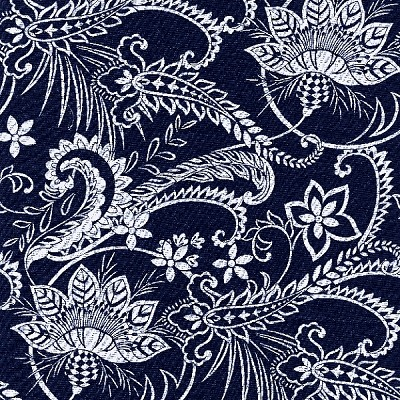 Indigo Blues 4338 Large Floral Vines by Henry Glass