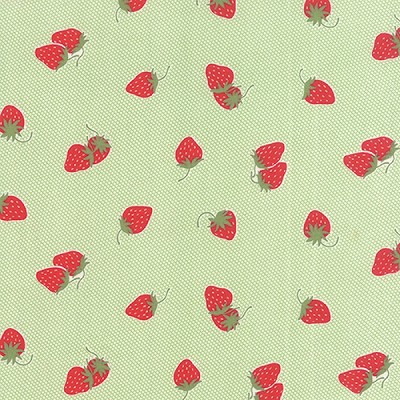 Hello Darling 55114-15 Green Strawberries by Bonnie & Camille for Moda