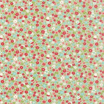 Vintage Picnic 55126-15 Gray Wildflowers by Moda EOB