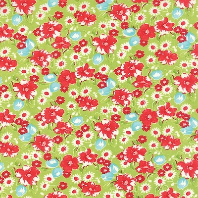Little Ruby 55130-14 Green Little Swoon by Bonnie & Camille for Moda