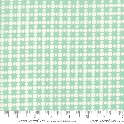 Handmade 55142-22 Aqua Star Quilt by Bonnie & Camille for Moda