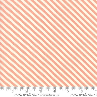 Handmade 55145-13 Coral Candy Stripe by Bonnie & Camille for Moda