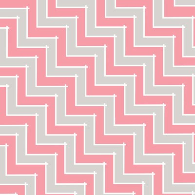Sweet Harmony 9599-92 Gray Pink Chevron by Henry Glass
