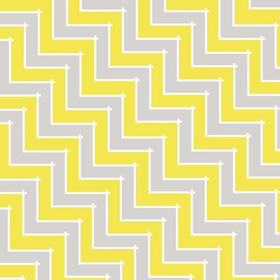 Sweet Harmony 9599-94 Gray Yellow Chevron by Henry Glass EOB