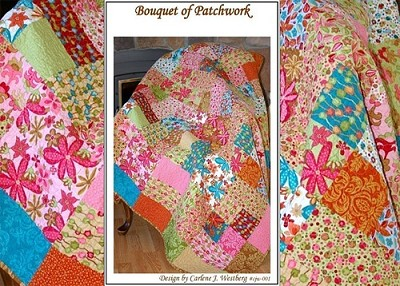 Bouquet of Patchwork Quilt Pattern by Carlene Westerberg Designs