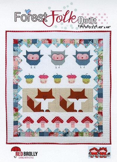 Forest Folk Quilt Pattern by Little Red Brolly