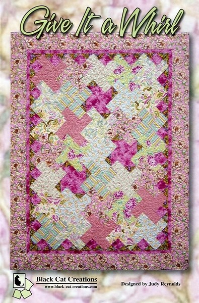 Give it a Whirl Quilt Pattern by Black Cat Creations