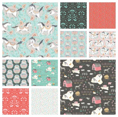 Hill and Dale 10 Fat Quarter Set by Ana Davis for Blend