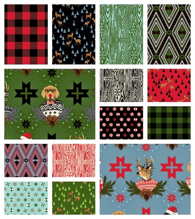 Holiday Homies 14 Fat Quarter Set by Tula Pink for Free Spirit