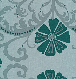 Jenaveve LVW03 Teal Tribal Floral by Valori Wells for Free Spirit