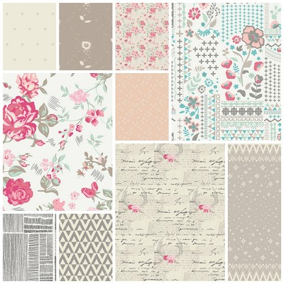 Le Vintage Chic 10 Fat Quarter Set by Art Gallery