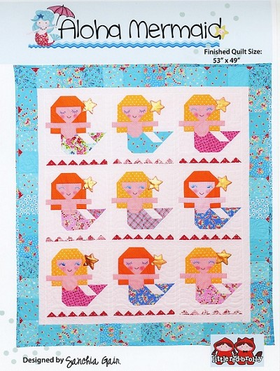 Aloha Mermaid Quilt Pattern by Little Red Brolly