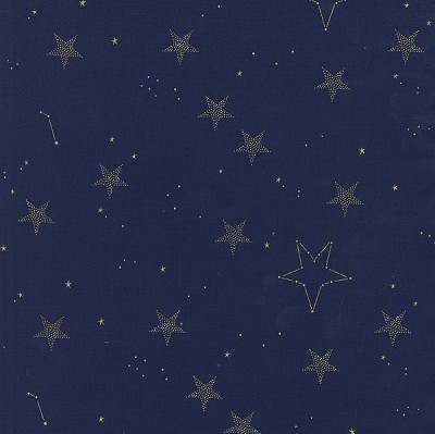 Magic MD7194 Navy Lucky Stars by Sarah Jane for Michael Miller