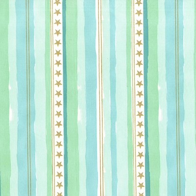 Magic MD7195 Aqua Stars & Stripes by Sarah Jane for Michael Miller