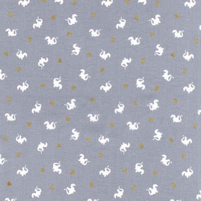 Magic MD7197 Gray Baby Dragon by Sarah Jane for Michael Miller
