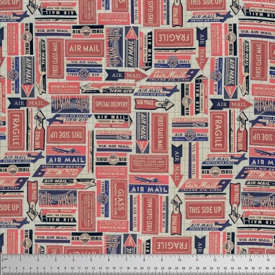 Correspondence PWTH041-8 Red Air Mail by Tim Holtz for Coats