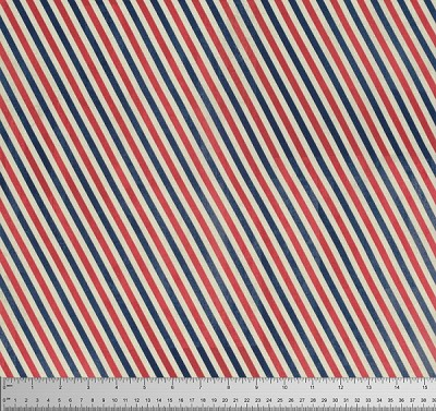 Correspondence PWTH049-8 Red Postal Stripes by Tim Holtz for Coats