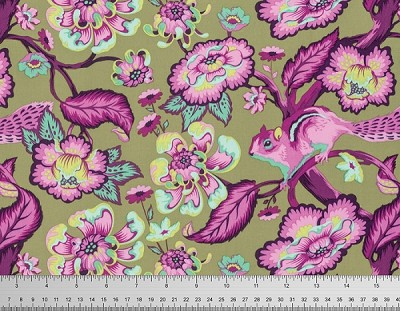 Chipper PWTP078 Raspberry Chipmunk by Tula Pink for Free Spirit