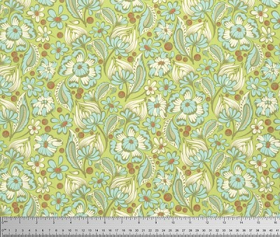 Chipper PWTP079 Mint Wild Vines by Tula Pink for Free Spirit