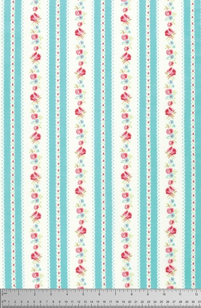 Lola PWTW107 Blue Garden Ticking by Tanya Whelan for Free Spirit